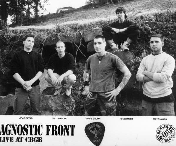В 1983 году вышел дебютный альбом  Agnostic Front «United Blood». Альбом был записан в составе: вокалиста- Роджера Мирета, ударника — Рея Барбери, гитариста — Адама Муши.