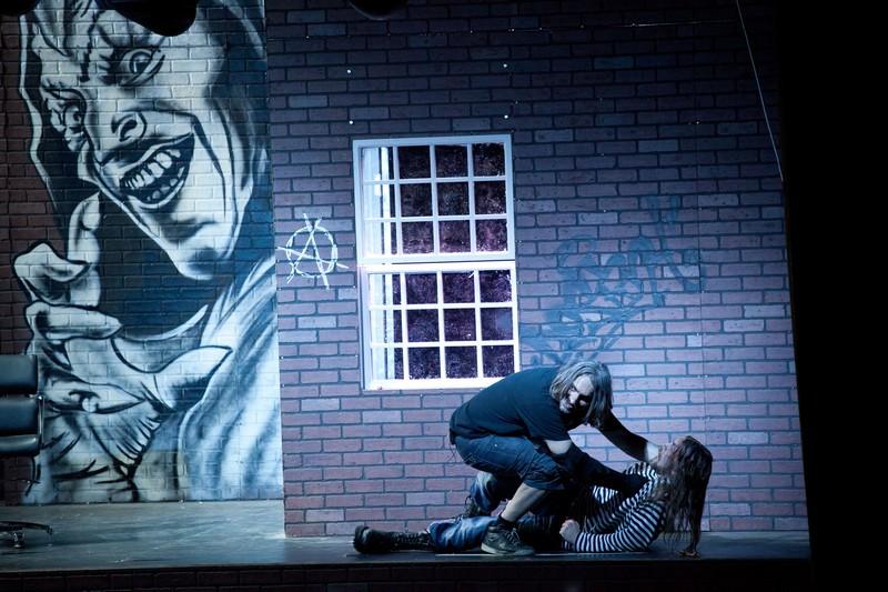 Фото с репетиции зонг-оперы ужасов «TODD»